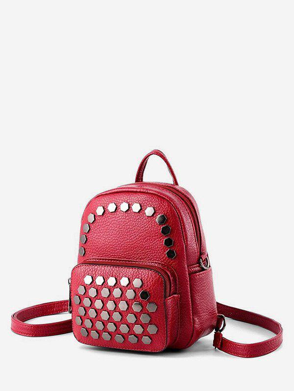 Online Geo Studded Mini Leather Backpack