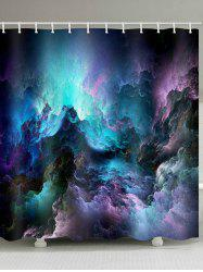 Galaxy Clouds Print Waterproof Bathroom Shower Curtain -