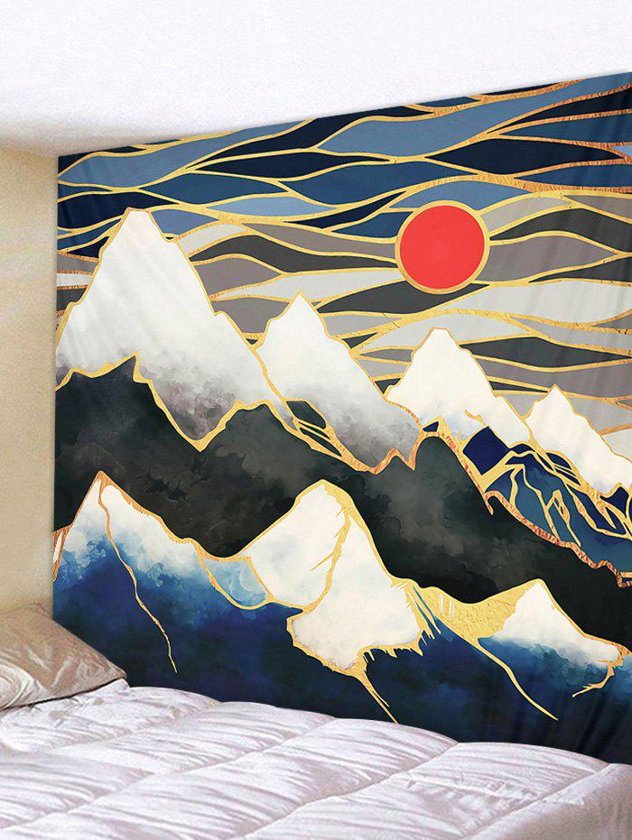 Trendy Sunset Mountain Print Wall Tapestry
