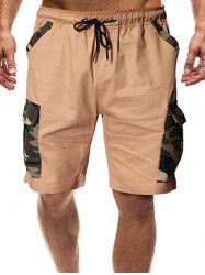 Camouflage Print Flap Pocket Casual Shorts -