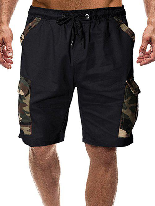 Best Camouflage Print Flap Pocket Casual Shorts