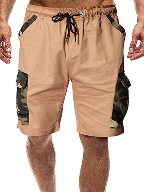 Hot Camouflage Print Flap Pocket Casual Shorts