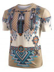 Tribal Indian 3D Print Casual T-shirt -