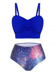 Fireworks Print Bow Mix-and-match Tankini Swimwear -