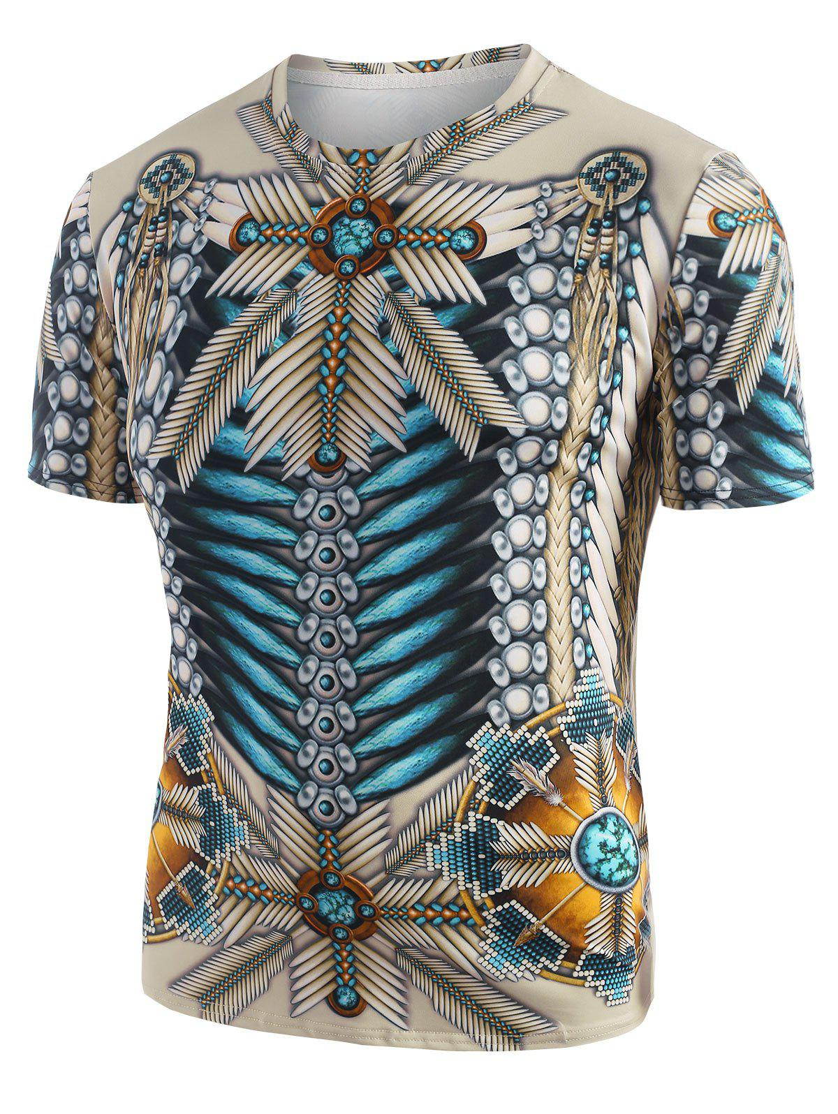 Discount Tribal Indian 3D Print Graphic T-shirt