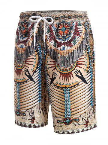 Tribal Indian Pattern 3D Print Shorts