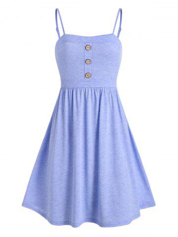 Buttons Mini Fit and Flare Dress