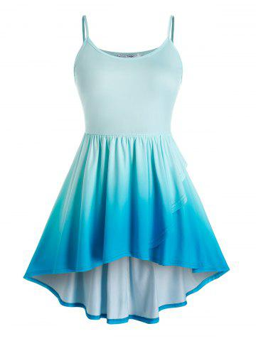 Plus Size High Low Ombre Cami Top