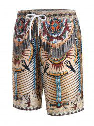 Tribal Indian Pattern 3D Print Shorts -