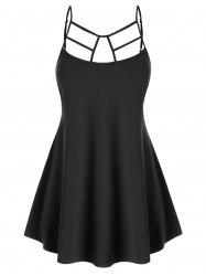 Plus Size Cut Out Swing Cami Top -