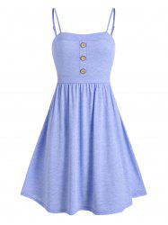 Buttons Mini Fit and Flare Dress -