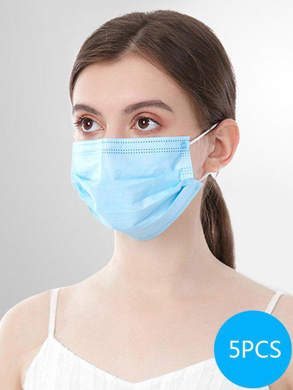 3-layer Disposable Breathing Masks With FDA And CE Certification, Sky blue