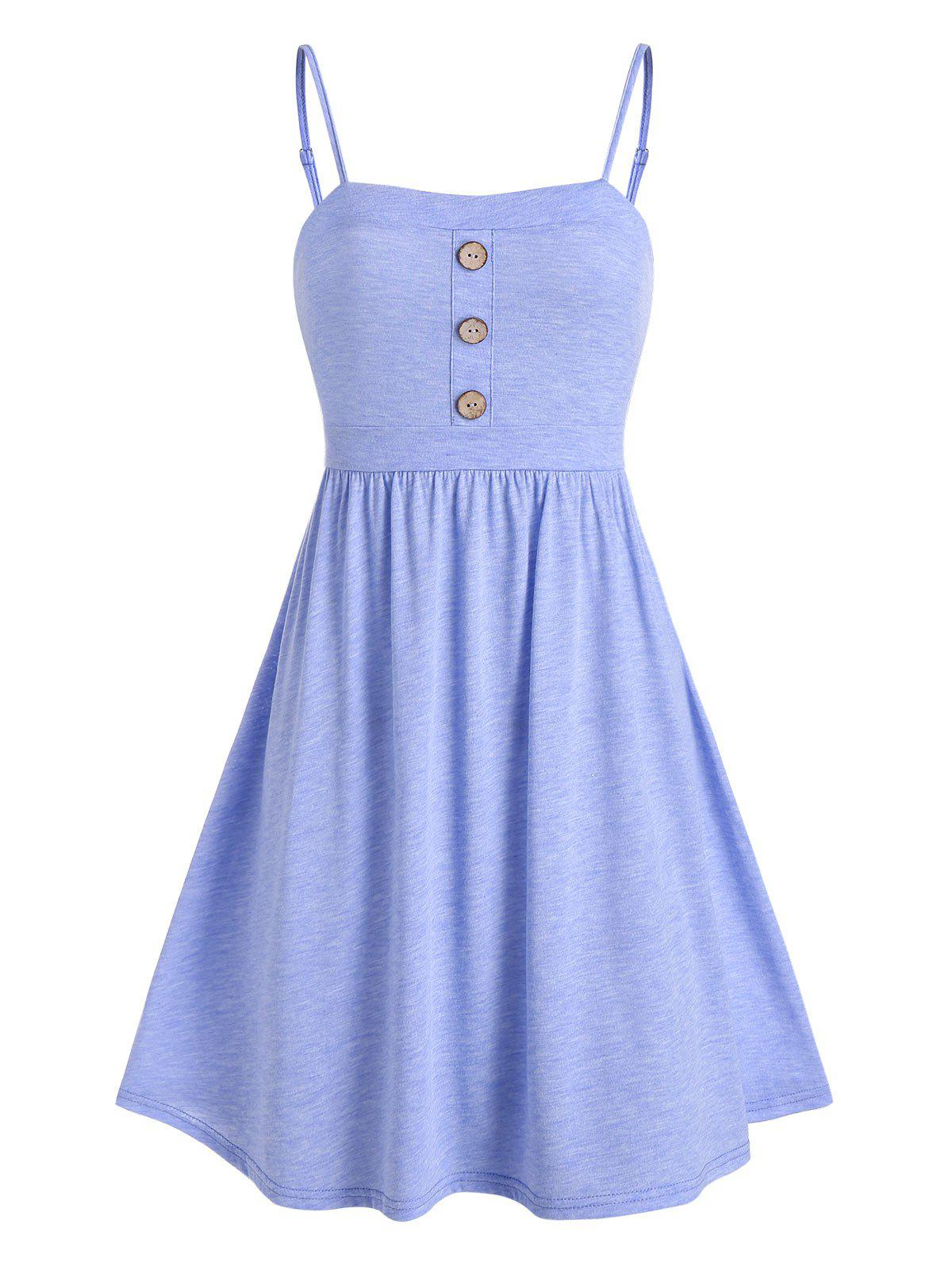 Outfit Buttons Mini Fit and Flare Dress