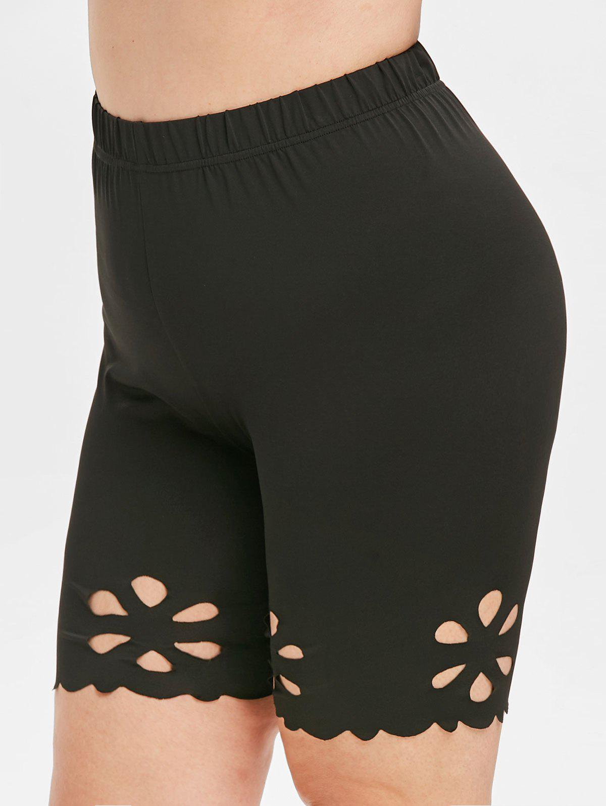 Plus Size Laser Cut Slip Shorts фото
