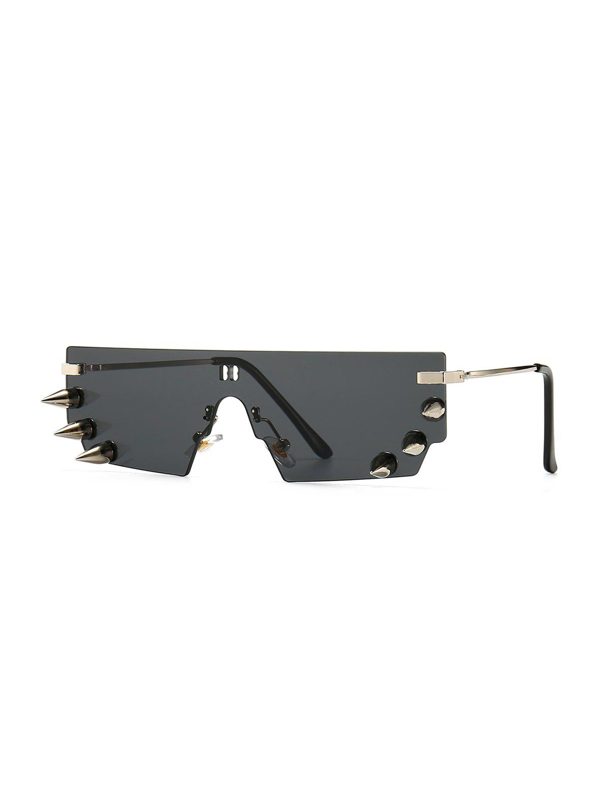 Outfits One-piece Rivets Exaggerated Rimless Sunglasses