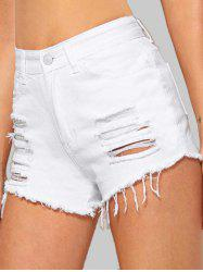 Cuff Off Ripped Jean Shorts -