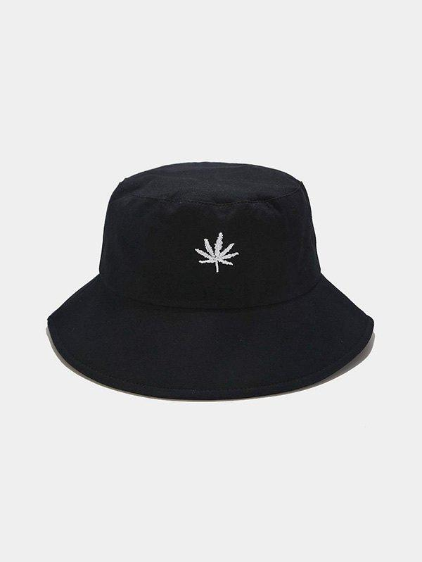 Chic Outdoor Maple Leaf Embroidered Bucket Hat