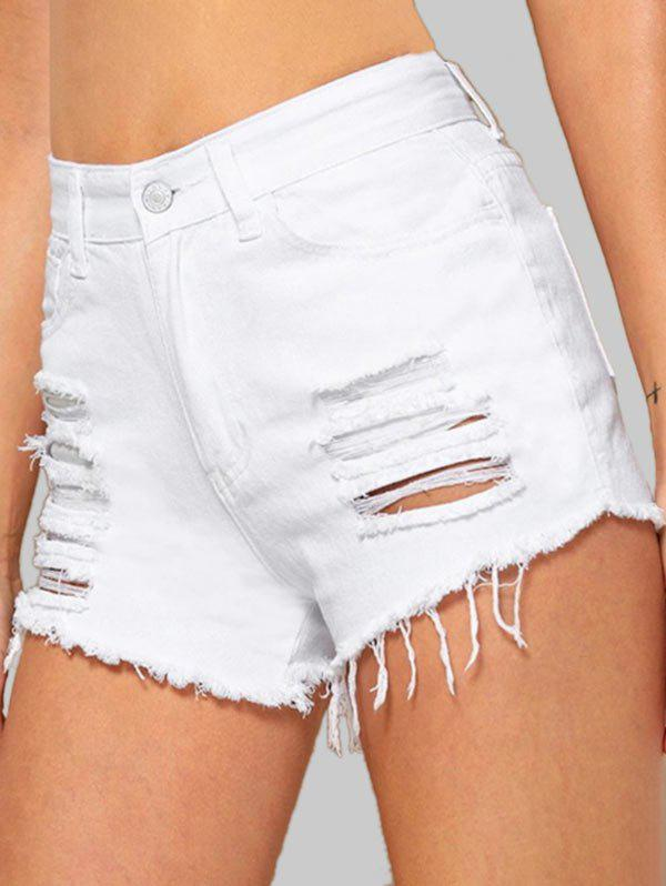 Latest Cuff Off Ripped Jean Shorts