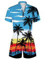 Hawaii Palm Tree Print Vacation Romper -
