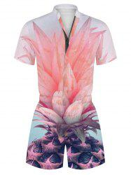 Pineapple 3D Print Casual Romper -