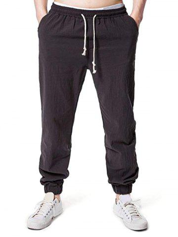 Solid Casual Drawstring Jogger Pants