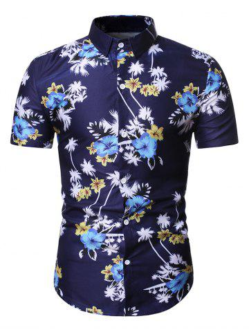 Hawaii Floral Palm Tree Print Shirt
