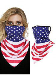 Flag Print Windproof Outdoor Sun Protection Mask Scarf -