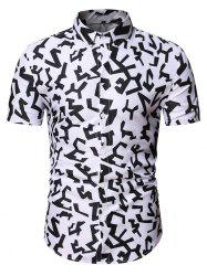 Geometric Graphic Pattern Shirt -