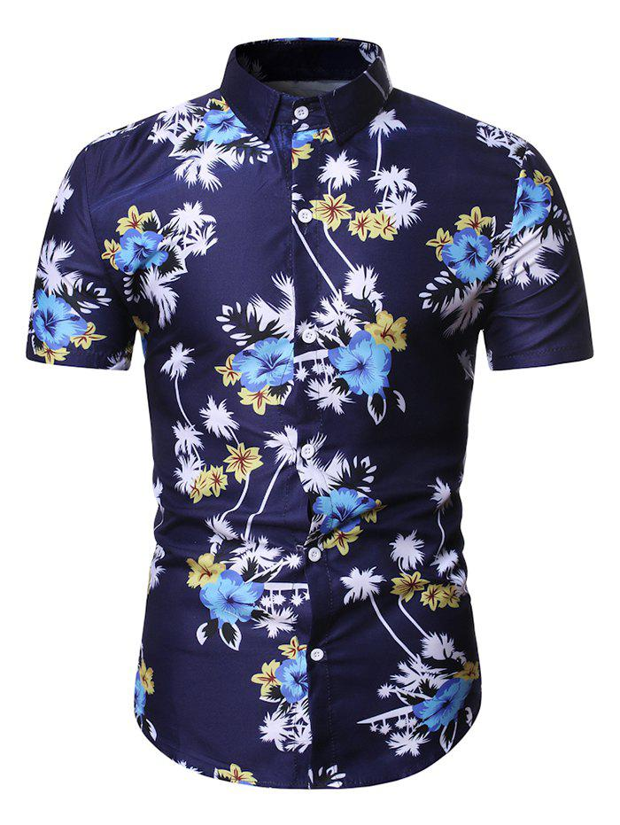 Outfit Hawaii Floral Palm Tree Print Shirt