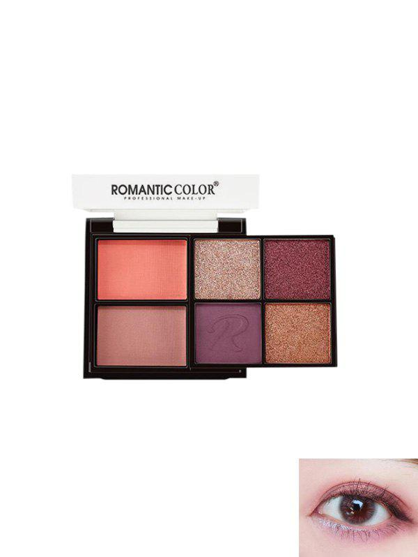 Discount 6 Color Letter Pattern Glitter Eyeshadow Palette