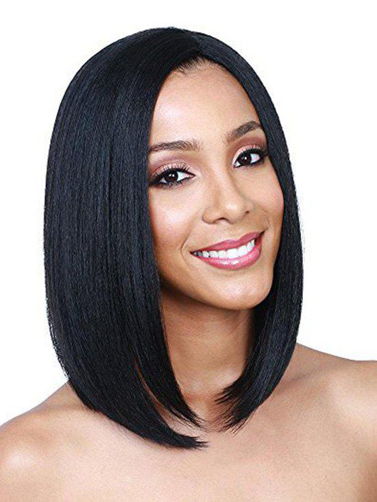 Affordable Medium Center Part Straight Synthetic Bob Wig