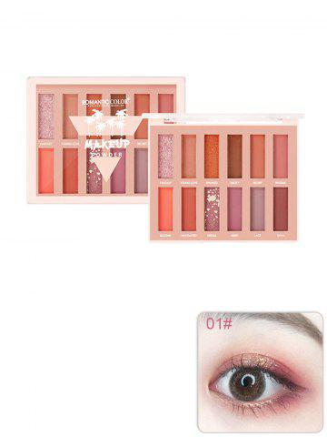 12 Color Glitter Foggy Pigmented Eyeshadow Palette - #001