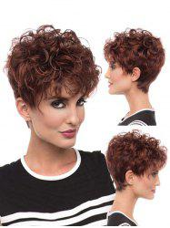 Pixie Cut Fluffy Curly Synthetic Hair Wig -