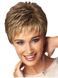 Short Straight See-through Bang Pixie Synthetic Wig -