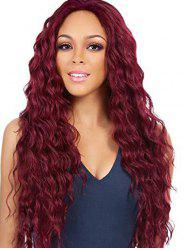 Long Wavy Middle Part Fluffy Synthetic Wig -