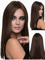 Middle Part Long Silky Straight Heat Resistant Synthetic Wig -