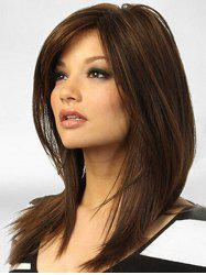 Side Parting Middle Straight Synthetic Wig -