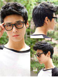 Short Layered Natural Straight Synthetic Wig For Men -