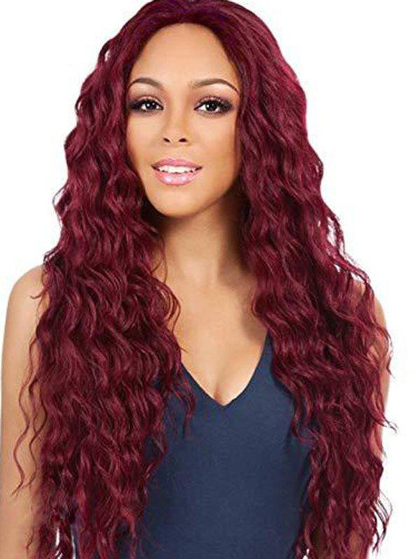 Affordable Long Wavy Middle Part Fluffy Synthetic Wig