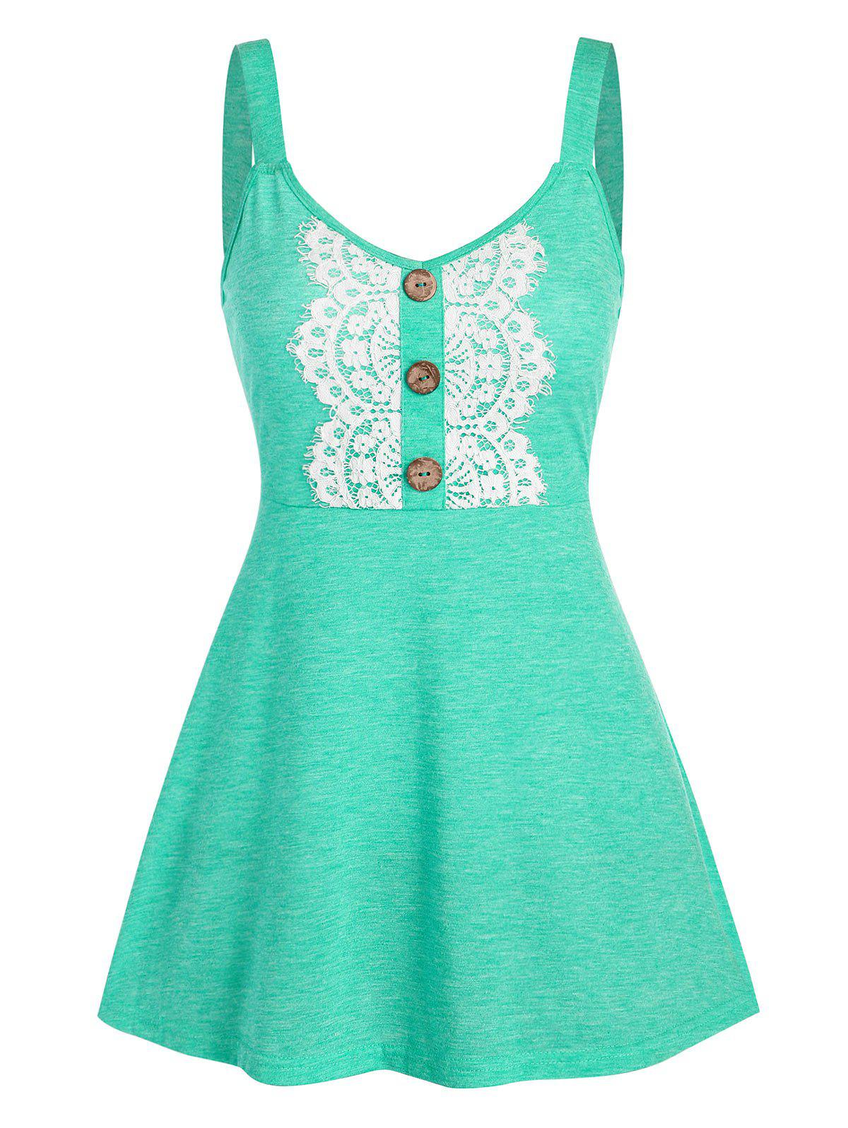 Shop Button Fit And Flare Space Dye Tank Top