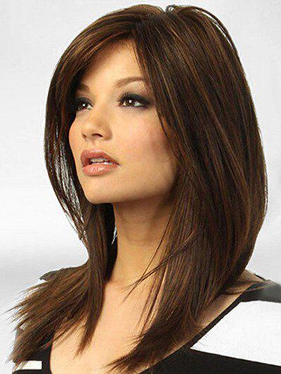 Fashion Side Parting Middle Straight Synthetic Wig
