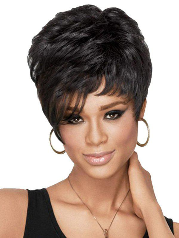 Chic Fluffy Black Short Curly Heat Resistant Synthetic Wig