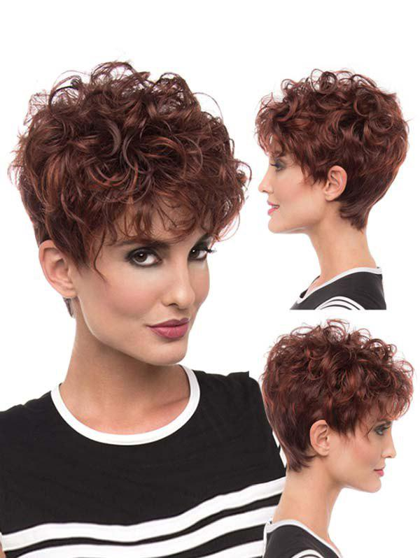 Fancy Pixie Cut Fluffy Curly Synthetic Hair Wig
