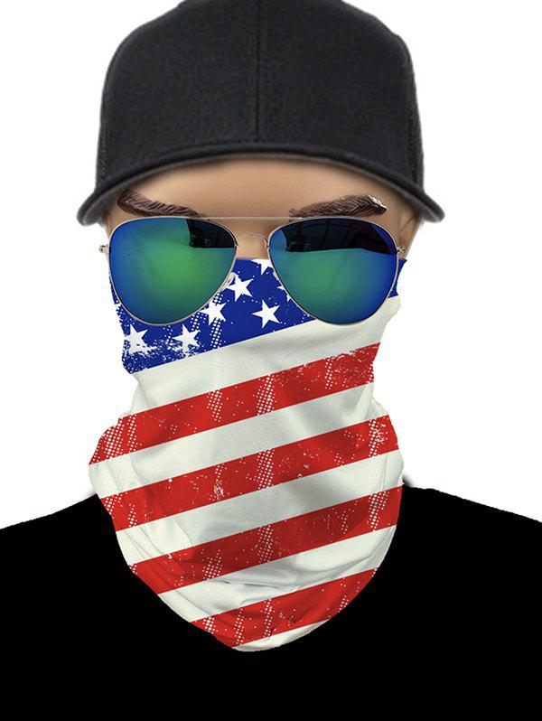 Fashion American Flag Print Outdoor Riding Face Mask Neck Gaiter