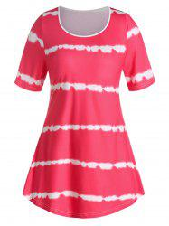 T-shirt Courbe TeintéGrande Taille - Rouge Rose L