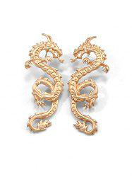 Carved Dragon Pattern Stud Earrings -