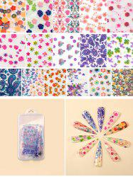 Flowers Pattern Nail Beauty Transfer Papers Set -