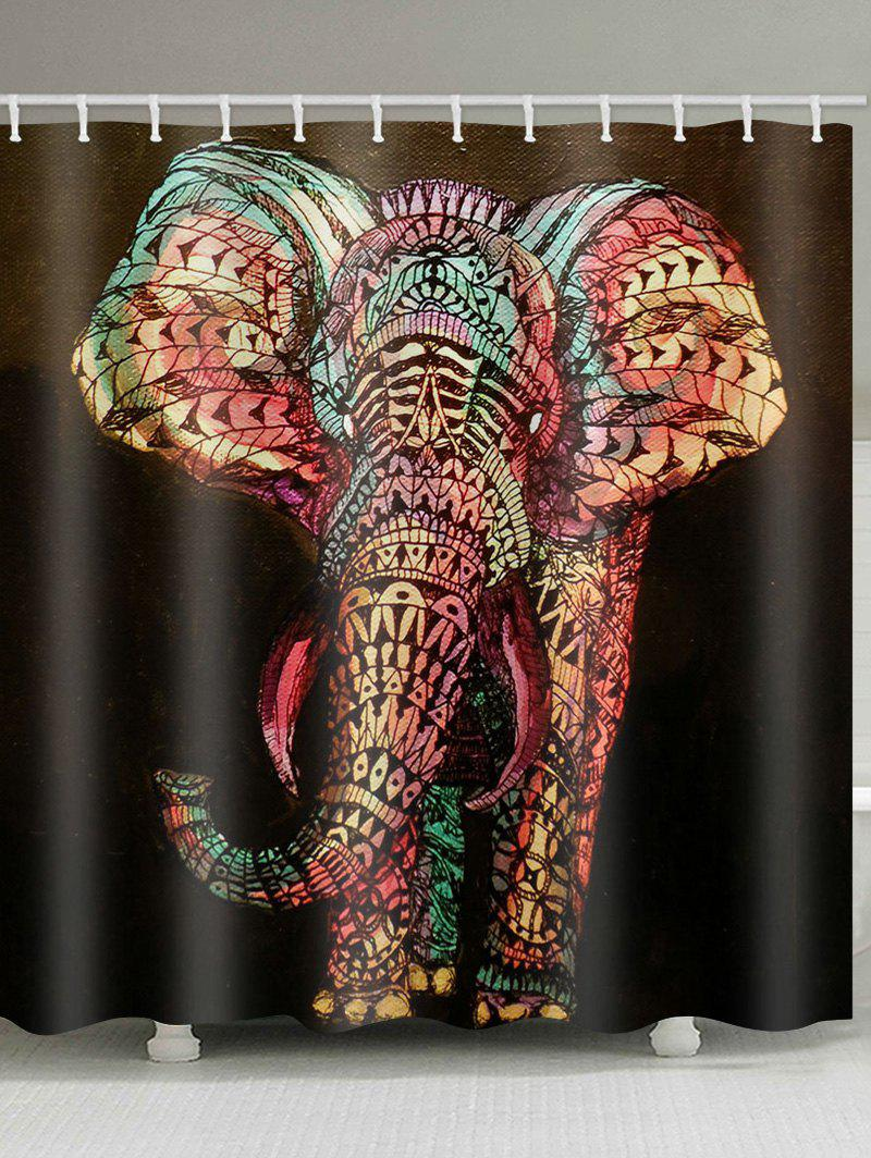 Outfits Bohemian Printed Elephant Waterproof Shower Curtain