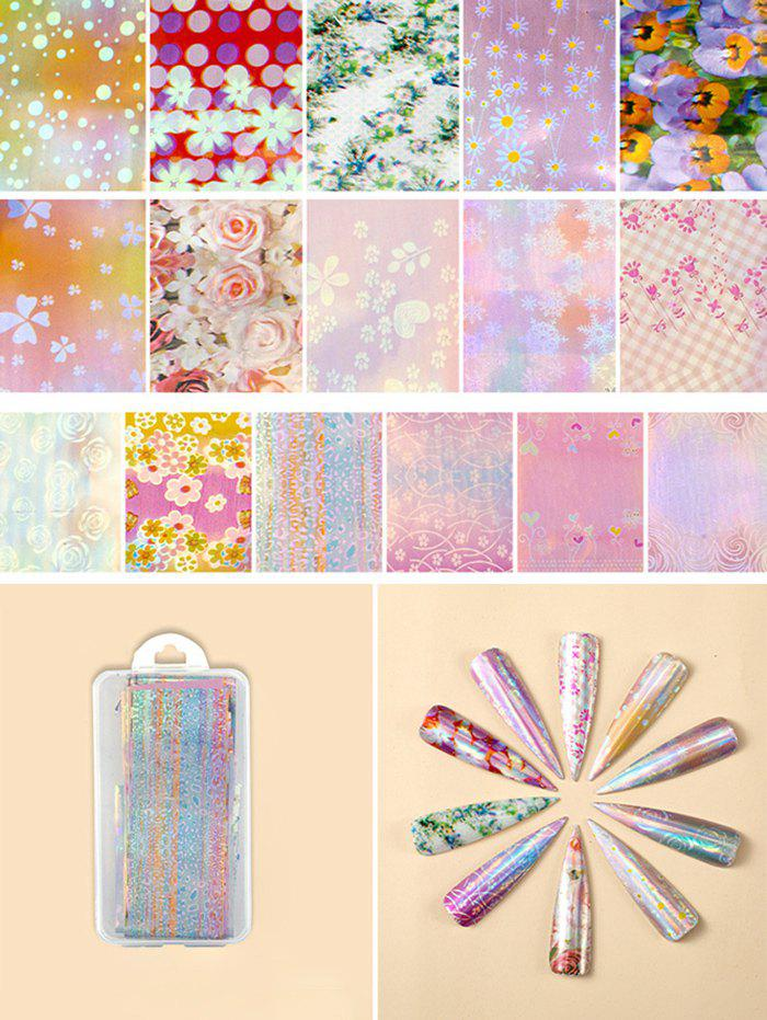 Latest Flowers Pattern Nail Beauty Transfer Papers Set
