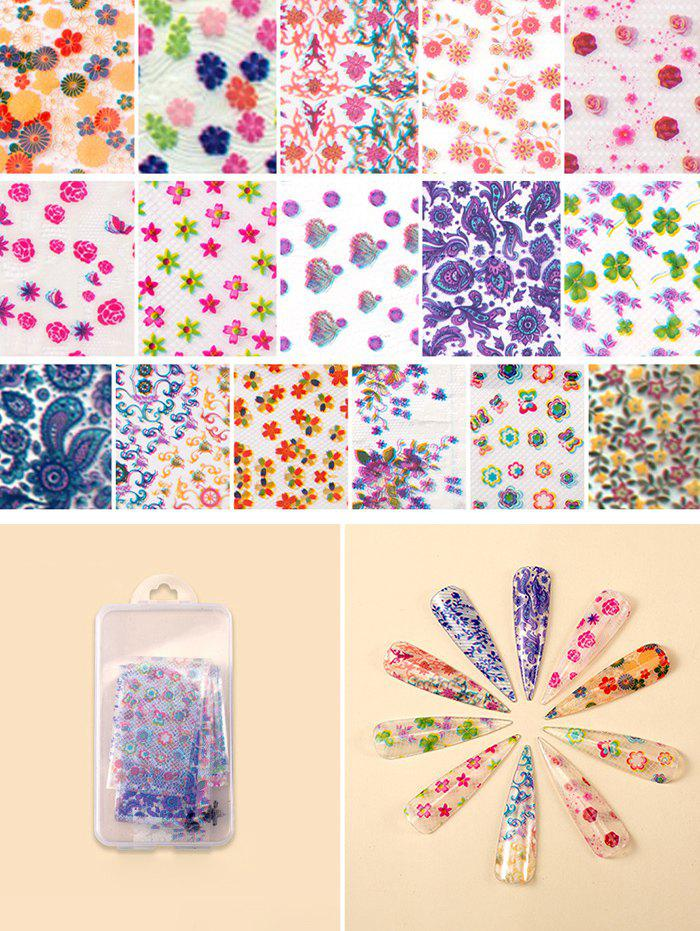 Affordable Flowers Pattern Nail Beauty Transfer Papers Set
